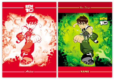 جلد دفتر لایه باز طرح بن تن Ben 10